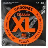 D'Addario ECG23 XL Chromes Flatwound Electric Guitar Strings - .010-.048 Extra Light