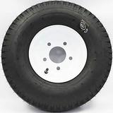 "SWW 810 LoadStar 5-hole 8"" x 3.75"" White Trailer Wheel & Tire 5.70-8 4ply"