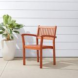 VIFAH Malibu Outdoor Garden Stacking Armchair (Set of 4)