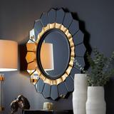 Cyan Design 02737 Tempe Flower Shaped Mirror with Gold Beveling Clear