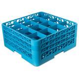 Carlisle RG16-314 OptiClean? Glass Rack w/ (16) Compartments - (3) Extenders, Blue