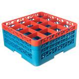 Carlisle RG16-3C412 OptiClean? Glass Rack w/ (16) Compartments - (3) Extenders, Blue