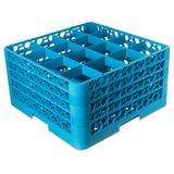 Carlisle RG16-414 OptiClean? Glass Rack w/ (16) Compartments - (4) Extenders, Blue