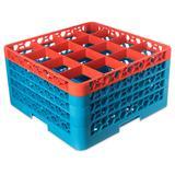 Carlisle RG16-4C412 OptiClean? Glass Rack w/ (16) Compartments - (4) Extenders, Blue