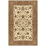 Surya Crowne Classic Hand Tufted 100% Wool Parchment 8' x 11' Traditional Area Rug