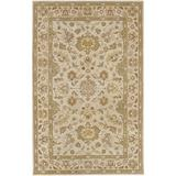 Surya Crowne Classic Hand Tufted 100% Wool Parchment 6' x 9' Traditional Area Rug