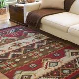 Surya Jewel Tone Flatweave Hand Woven 100% Wool Carnelian 2' x 3' Southwest Accent Rug
