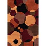 """Momeni Rugs New Wave Collection, 100% Wool Hand Carved & Tufted Contemporary Area Rug, 5'3"""" x 8', Black"""