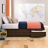 Prepac Mate's Platform Storage Bed with 3 Drawers, Twin, Espresso