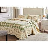 Greenland Home Bliss 100% Cotton Authentic Patchwork Quilt Set, Full/Queen