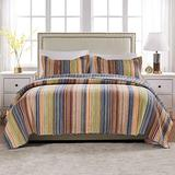 Greenland Home Katy Quilt Set, Twin, Natural