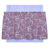 Victoria Park Toile 68-Inch-by-30 Inch Tailored Tier Curtains, Red