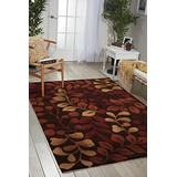 """Nourison Contour Chocolate Rectangle Area Rug, 3-Feet 6-Inches by 5-Feet 6-Inches (3'6"""" x 5'6"""")"""