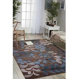 """Nourison Contour Mocha Rectangle Area Rug, 7-Feet 3-Inches by 9-Feet 3-Inches (7'3"""" x 9'3"""")"""