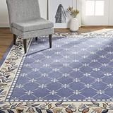 "Home Dynamix Lyndhurst Sheraton Area Rug, 5'2""x7'4"" Rectangle, Navy Blue"