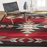 Home Dynamix Sagrada Southwest Area Rug 5x7 Black/Red/Ivory