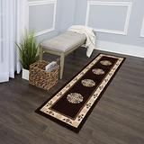 Home Dynamix Sultan Transitional Area Rug, 2x7, Black/Gold