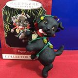 Hallmark QX6163 Puppy Love #8 Black Lab 1998 Keepsake Ornament