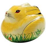 Taraluna Papier Mâché Painted Bunny Box - Easter Decoration or Trinket Box