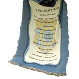 Manual Patriotic Collection 50 x 60-Inch Tapestry Throw, A Policeman's Prayer,