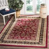 """Safavieh Lyndhurst Collection LNH331B Traditional Oriental Non-Shedding Living Room Bedroom Dining Home Office Area Rug, 5'3"""" x 7'6"""", Red / Black"""
