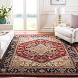 Safavieh Heritage Collection HG625A Handmade Traditional Oriental Premium Wool Area Rug, 3' x 5', Red
