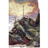 Manual Thomas Kinkade 50 x 60-Inch Tapestry Throw with Verse, Sunrise