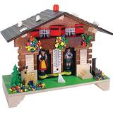 River City Clocks Traditional German Weatherhouse with Deer and Thermometer - 6 Inches Tall - Model # 1020T-06