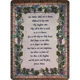 Manual Inspirational Collection 50 x 60-Inch Tapestry Throw with Verse, The Lord's Prayer