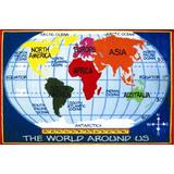 Fun Rugs Kids World Map Area Rug, 5-Foot 3-Inch by 7-Foot 6-Inch