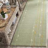 "Safavieh Soho Collection SOH303A Handmade Premium Wool Runner, 2'6"" x 8' , Light Green"