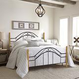 Hillsdale Furniture Winsloh Bed Set with Rails, King, Medium Oak
