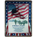 Manual Patriotic Collection 50 x 60-Inch Tapestry Throw, A Soldiers Prayer,