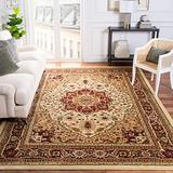 Safavieh Lyndhurst Collection LNH330A Traditional Oriental Non-Shedding Stain Resistant Living Room Bedroom Area Rug, 8' x 11', Ivory / Red