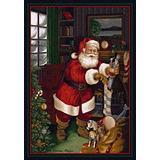 "Milliken Holiday Collection Santa's Visit, 5'4""x7'8"" Rectangle, Kris Kringle"