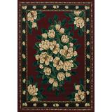 """United Weavers of America Magnolia Manhattan Rug Collection, 3' 11"""" by 5' 3"""", Burgundy"""