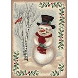 """Milliken Holiday Collection Snow Day, 3'10""""x5'4"""" Rectangle, Sandstone"""