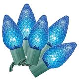 Philips 25ct. LED Faceted C9 String Lights - Blue Bulbs
