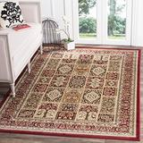 """Safavieh Lyndhurst Collection LNH217B Traditional Oriental Non-Shedding Living Room Bedroom Dining Home Office Area Rug, 5'3"""" x 7'6"""", Multi / Red"""