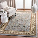 """Safavieh Lyndhurst Collection LNH312B Traditional Oriental Non-Shedding Stain Resistant Living Room Bedroom Area Rug, 3'3"""" x 5'3"""", Light Blue / Ivory"""