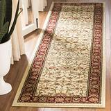 """Safavieh Lyndhurst Collection LNH212K Traditional Oriental Non-Shedding Stain Resistant Living Room Bedroom Runner, 2'3"""" x 16' , Ivory / Red"""