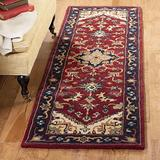 Safavieh Heritage Collection HG625A Handmade Traditional Oriental Premium Wool Accent Rug, 2' x 3', Red