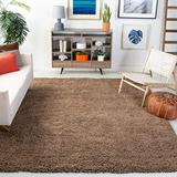 Safavieh Ultra Classic Shag Collection SG140D Handmade Solid 2.3-inch Thick Area Rug, 5' x 8', Taupe