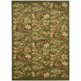 "Safavieh Lyndhurst Collection LNH326B Traditional Floral Non-Shedding Stain Resistant Living Room Bedroom Area Rug, 3'3"" x 5'3"", Sage"