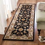 "Safavieh Heritage Collection HG628B Handmade Traditional Oriental Premium Wool Runner, 2'3"" x 8' , Black / Beige"