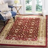 Safavieh Lyndhurst Collection LNH312A Traditional Oriental Non-Shedding Stain Resistant Living Room Bedroom Area Rug, 8' x 11', Red / Ivory