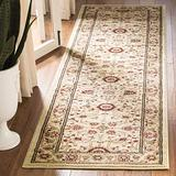 """Safavieh Lyndhurst Collection LNH212L Traditional Oriental Non-Shedding Stain Resistant Living Room Bedroom Runner, 2'3"""" x 14' , Ivory / Ivory"""