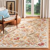 """Safavieh Chelsea Collection HK141A Hand-Hooked French Country Wool Area Rug, 8'9"""" x 11'9"""", Ivory"""