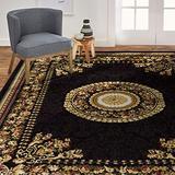 Home Dynamix Optimum 11023-450 Polypropylene 7-Feet 8-Inch by 10-Feet 4-Inch Area Rug, Black