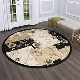 Home Dynamix Optimum 11025-450 Black 7-Feet 10-Inch Round Transitional Area Rug